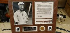 Ty Cobb Game Used Bat Piece And Picture From 1909