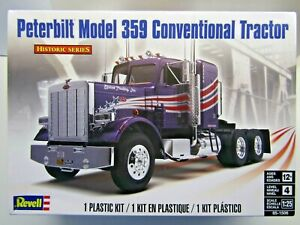 Revell 1:25 Scale Peterbilt Model 359 Conventional Tractor Model Kit - # 85-1506