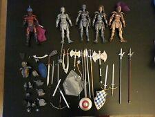 Four horsemen mythic legions LOT 1/12 5 Figures Lots of weapons