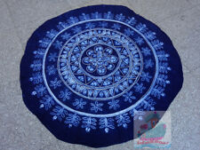 Handmade indigo Tie Dye Rural Style Tablecloth Table Cover Tapestry ROUND φ150cm