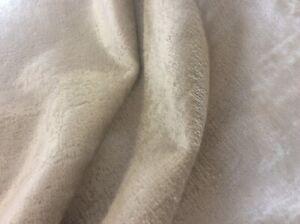 "CREAM VELVET CHENILLE SOFA UPHOLSTERY CHAIRS FABRIC 57""(145)WIDE"