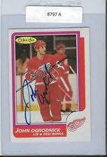John Ogrodnick 1986 OPC Autograph #87 Red Wings