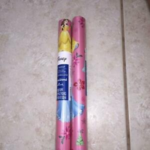 Disney Princess 2 Rolls Hallmark Holiday Gift Wrapping Paper 40 Sq Ft