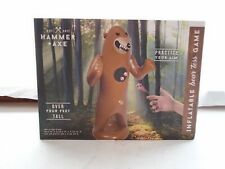 New Hammer&Axe Inflatable Bear Toss Game
