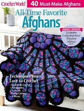 Crochet Pattern Book All Time Favorite Afghans Cathedral Rose, Tunisian, Celtic+