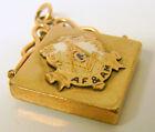 ANTIQUE VINTAGE GOLD FILLED GF Gold Emblem MASONIC WATCH FOB CHARM Medallion