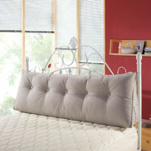 Triangular Wedge Pillow Soft Headboard Large Filled Reading Cushion For Sofa Bed