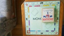 VINTAGE 30'S MONOPOLY GAME WITH WOODEN PIECES,  COMPLETE ORIGINAL BOX!