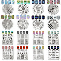 BORN PRETTY Nail Stamping Plates Nail Art Round Square Image Stamp Templates DIY