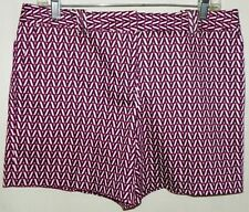Worthington Modern Fit Purple Black White Flat Front Dress Shorts Size 8 NEW
