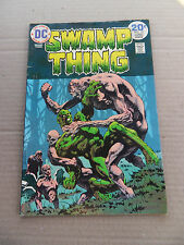 Swamp Thing 10 . Last B .Wrightson Issue - DC 1974 - FN +