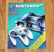 Nintendo 64 Vintage German Ad Booklet Super Mario Zelda Yoshi Kirby Turok etc
