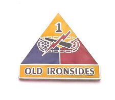 1ST ARMOR DIVISION OLD IRONSIDES  Military Veteran US ARMY Hat Pin 14740 HO