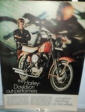 1969 Ad~HARLEY DAVIDSON MOTORCYCLE out-performs everything on 2 wheels~ZOOM ZOOM