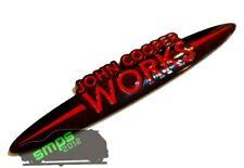 Mini R53 JCW Custom John Cooper Works Badge Black & Red 134mm x 25mm SMPS2012 UK