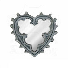 Pocket mirror Miroir de poche Alchemy Gothic Heart Coeur glass widow Gothique