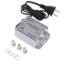 Amplificatore Segnale AC Standard 20dB TV Via Cavo/UHF/VHF/FM Splitter Antenna