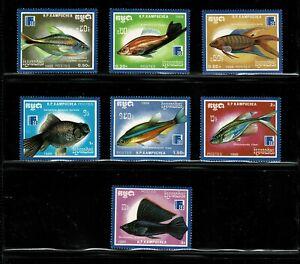 W0002 CAMBODIA 1988 Finlandia 88 - Fish MNH