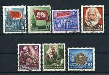 DDR 344, 346/7, 349/51, 353 gestempelt - Karl Marx