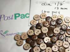 "100 pcs 1/2"" Natural Coconut Pattern Wood Wooden Buttons Sewing Fabric Shirt"
