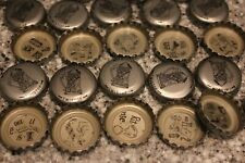 100 FALSTAFF BEER BOTTLE CAPS SILVER BEER STEIN CENTER REBUS PUZZLES NO DENTS