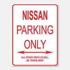 """NISSAN Parking Only Street Sign Heavy Duty Aluminum Sign 9"""" x 12"""""""