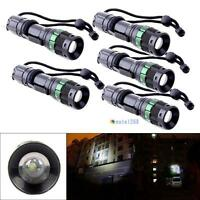 5pcs 3000 Lumen Zoomable CREE XM-L Q5 LED Flashlight Torch Zoom Lamp Light TR