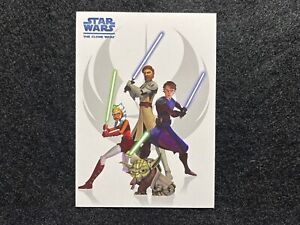 2008 TOPPS STAR WARS THE CLONE WARS PROMO TRADING CARD #P1 YODA LIGHT SABRES