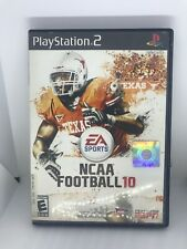 NCAA Football 10 (Sony PlayStation 2, 2009) PS2 GAME COMPLETE W/ CASE & MANUAL