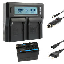 BATTERIA per Sony np-f970 + Dual Caricabatteria Charger per Sony np-f970 | 65228 | 90302