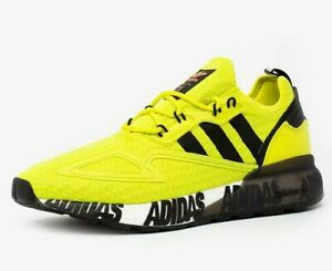 Adidas ZX 2K Boost Men's Size 10 Acid Yellow Black White Running Shoes Trainers