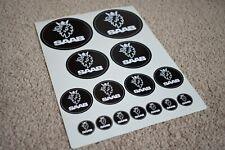 SAAB Car Vehicle Badge Logo Boot Bonnet Emblem Racing Decal Stickers Black