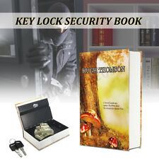 Large Secret Dictionary Book Safe Security Key Lock Money Cash Jewellery Box
