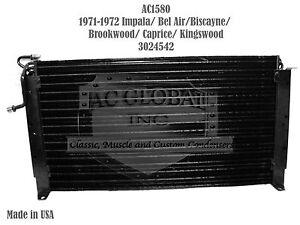 71 72 1971 Chevy Impala Bel Air Caprice Biscayne AC Condenser OEM 3024542 AC158J