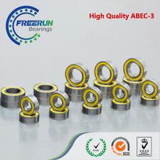 Axial SCX10 1/10 AX10 Scorpion ARTR Ball Bearing Set ABEC-3 Yellow Rubber
