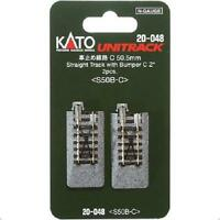 Kato 20-048 Rail Fin de Voie / Single Track With Bumper C 50mm 2pcs - N