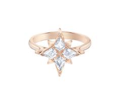 Swarovski Symbolic Star Motif Ring, White, Rose-Gold Tone Plated Size 52 (6)