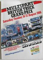 SILVERSTONE 16/17 Aug 1986 British Truck Grand Prix A4 Official Programme