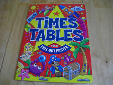 TIMES TABLES ACTIVITY PB AGE 7 TO 10 KS2 WITH PULL OUT POSTER TABLES 1 TO 12 NEW