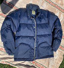 Vtg Sierra Designs Puffer Jacket Medium Blue 70s 80s Usa Free Shipping