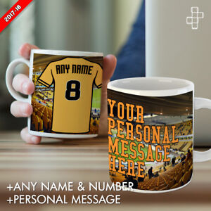 Personalised Wolves Mug Football Gift Any Name Number & Message Molineux