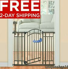 TALL WALK THRU SAFETY GATE PET DOG TODDLER BABY CHILD STAIRS FREE 2 DAY SHIPPING