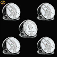 5PCS 2012 Silver Elizabeth II Tokelau Animal Dragon Fly Commemorative Coin Gift