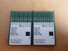 20X NEEDLES TO SUIT INDUSTRIAL REECE 101 KEY HOLE MACHINE SIZE 110/18 501SC