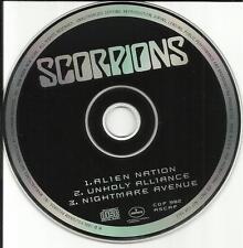 SCORPIONS 1993 Rare USA 3 TRK SAMPLER PROMO DJ CD single Alien Nation CDP982