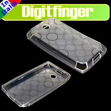 HTC DIAMOND P7300 CUSTODIA COVER BIANCA SILICONE CERCHI
