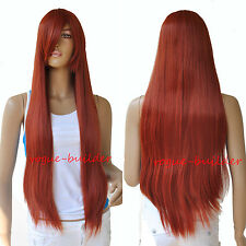 75cm 30 inch High-Heat Resistent Long Red Straight Cosplay Party Hair Wig