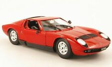 LAMBORGHINI MIURA 1968 BURAGO 1/18 1:18 ROSSO ROT RED ROUGE ITALIA MODEL CAR