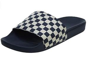 NEW Vans Checkerboard Slide-On Sandals Navy / White US 12