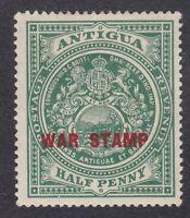 Antigua 1916-17 1/2d Green War Stamp - SG53 - Mint Hinged (E9C)
